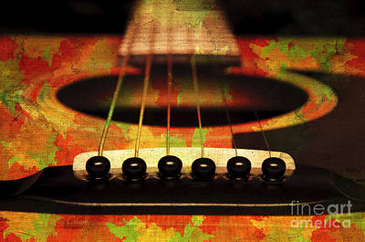Photograph - Edgy Abstract Eclectic Guitar 28 by Andee Design
