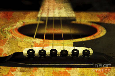 Photograph - Edgy Abstract Eclectic Guitar 30 by Andee Design