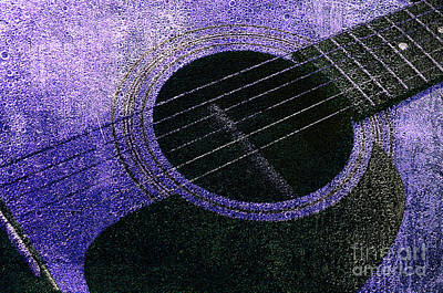 Photograph - Edgy Guitar Purple 2 by Andee Design