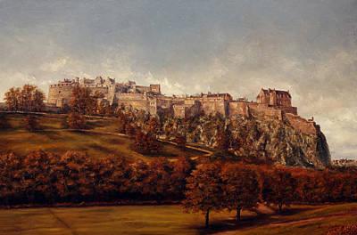 Scotland Painting - Edinburgh  Castle by Miroslav Stojkovic - Miro