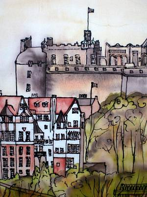 Painting - Edinburgh Castle Scotland by Hazel Millington