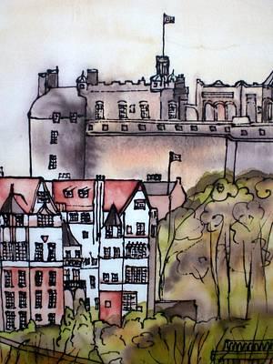 Painting - Edinburgh Castle Scotland by Hazel Millington