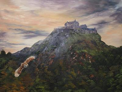 Painting - Edinburgh Castle Scotland by Jean Walker