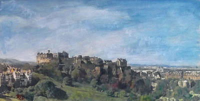 Painting - Edinburgh Castle Vista by Richard James Digance