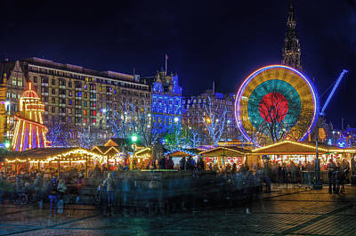 Edinburgh Christmas Market Art Print