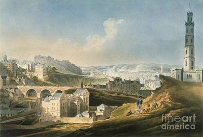 Greyhound Photograph - Edinburgh Cityscape, 1810 by British Library