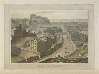 Edinburgh From The Carlton Hill Art Print by British Library
