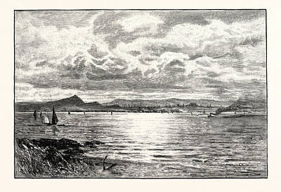 Fife Drawing - Edinburgh, From The Fife Shore, Uk by Scottish School