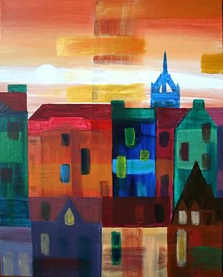 Edinburgh L Art Print