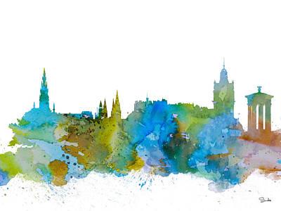 Edinburgh Painting - Edinburgh by Watercolor Girl