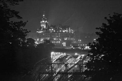 Photograph - Edinburgh Night Rain by Bill Mock