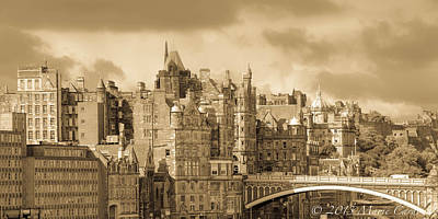 Edinburgh Nostalgia Art Print by Marie  Cardona