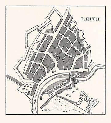 Coasting Drawing - Edinburgh Plan Of Leith Showing The Eastern Fortifications by English School