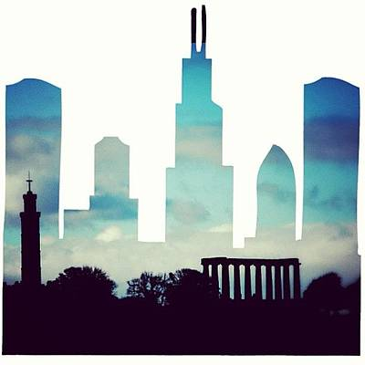 Abstract Skyline Wall Art - Photograph - Edinburgh Skyline! #abstract #skyline by Robert Campbell