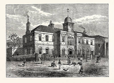 Edinburgh The High School Of Leith Built In 1806 Art Print by English School