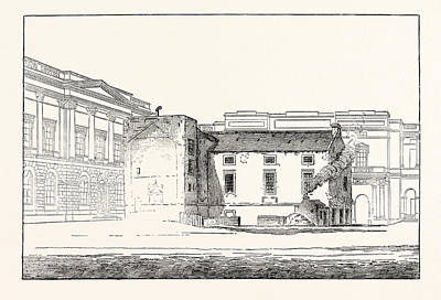 Archives Drawing - Edinburgh The Library Of The Old University As Seen by English School