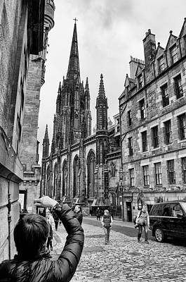 Photograph - Edinburgh Tourists by Trever Miller