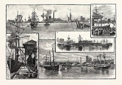 Dock Drawing - Edinburgh Views In Leith Docks 1. General Entrance by English School