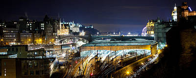 Photograph - Edinburgh Waverley Train Station by Karsten Moerman