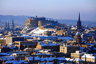 Photograph - Edinburgh Castle Winter by Craig B