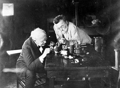 Photograph - Edison & Steinmetz, 1922 by Granger