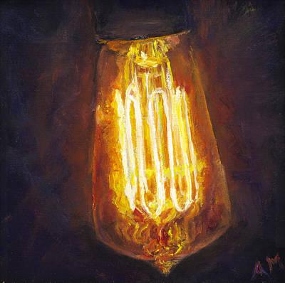 Edison Bulb Art Print by Ann Moeller Steverson