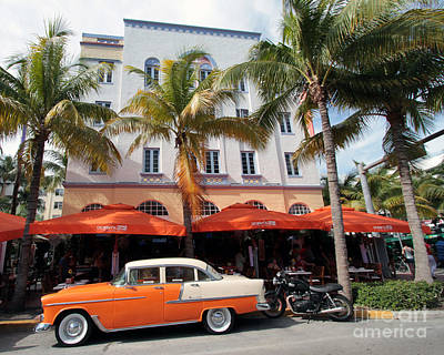 Photograph - Edison Hotel South Beach Day by Steven Spak