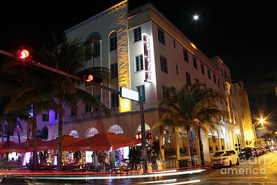 Photograph - Edison Hotel South Beach Night 2 by Steven Spak