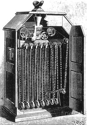 Invention Of Motion Photograph - Edisons Kinetoscope, 1895 by Science Source