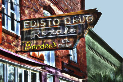 Photograph - Edisto Drug by Harry B Brown