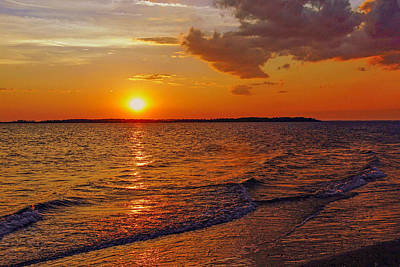 Edisto Island Sc Sunset Art Print