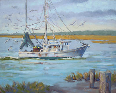 Edisto Shrimp Boat Original by Todd Baxter