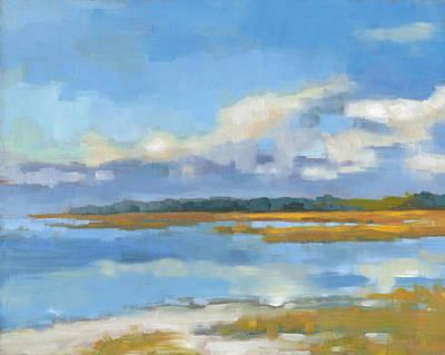South Carolina Low Country Marsh Painting - Edisto Study 10 by Todd Baxter