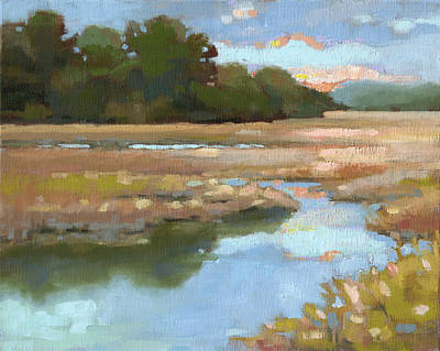South Carolina Low Country Marsh Painting - Edisto Study 4 by Todd Baxter