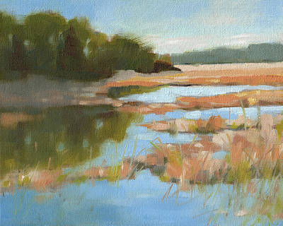 Low Country Painting - Edisto Study 5 by Todd Baxter