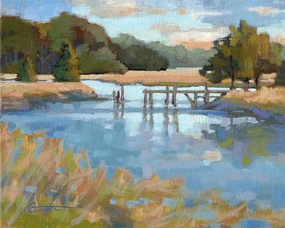 South Carolina Low Country Marsh Painting - Edisto Study 6 by Todd Baxter