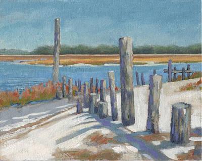 South Carolina Low Country Marsh Painting - Edisto Study 9 by Todd Baxter