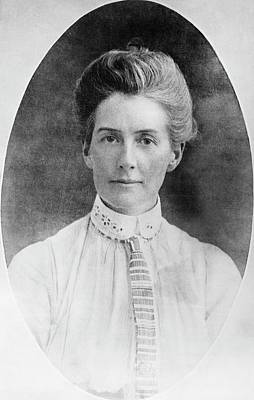 Edith Cavell Art Print by Library Of Congress