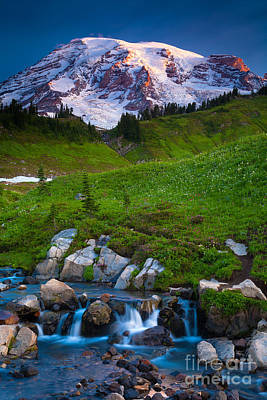 Mount Rainier Photograph - Edith Creek by Inge Johnsson