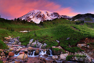 Peaceful Feeling Photograph - Edith Creek Sunrise by Inge Johnsson