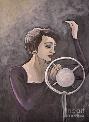 Painting - Edith Piaf by Reb Frost