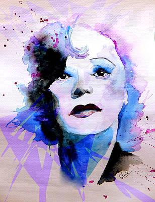 Art Print featuring the painting Edith Piaf by Steven Ponsford