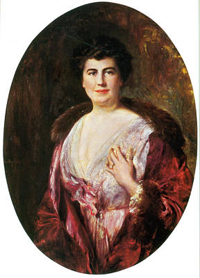 First Lady Painting - Edith Wilson, First Lady by Science Source