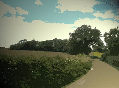 Old School House Drawing - Edlaston Lane, Looking Towards Edlaston Hall From A Road by Litz Collection