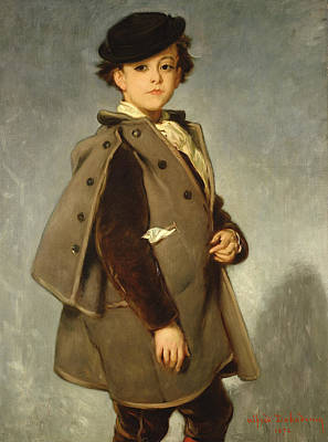 Youthful Painting - Edmond Dehodencq Wearing An Inverness Cape by Alfred Dehodencq