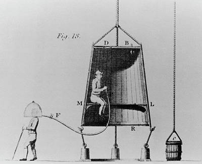 Edmond Halley's Diving Bell Of 1716 Art Print by Science Photo Library