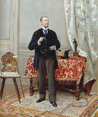 Edmond Taigny Art Print by Jean Beraud