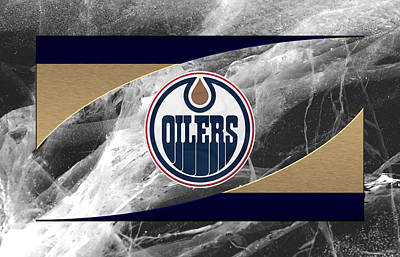 Oilers Photograph - Edmondton Oilers by Joe Hamilton