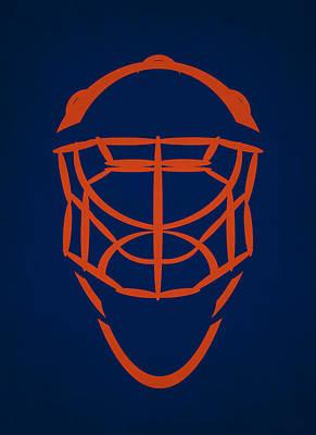 Edmonton Oilers Photograph - Edmonton Oilers Goalie Mask by Joe Hamilton