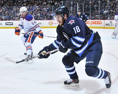 Photograph - Edmonton Oilers V Winnipeg Jets by Lance Thomson